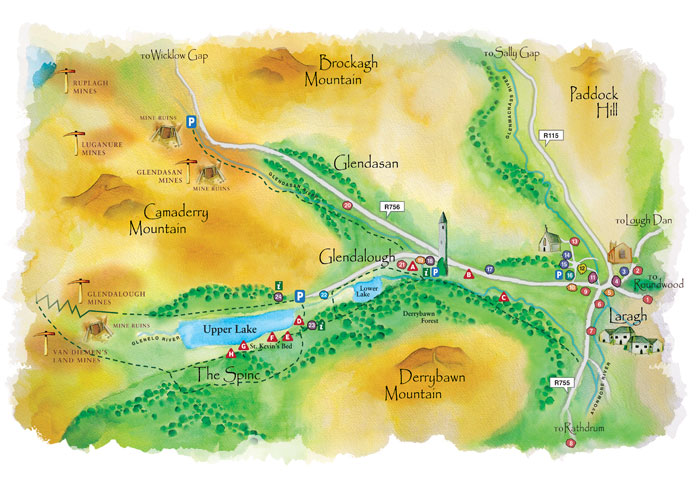 Glendalough WaterColour Map full
