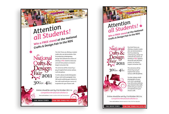 National Crafts & Design Fair Newspaper Ads